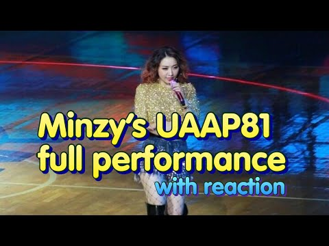 2NE1 Minzy's full UAAP 81 performance (with my reaction)