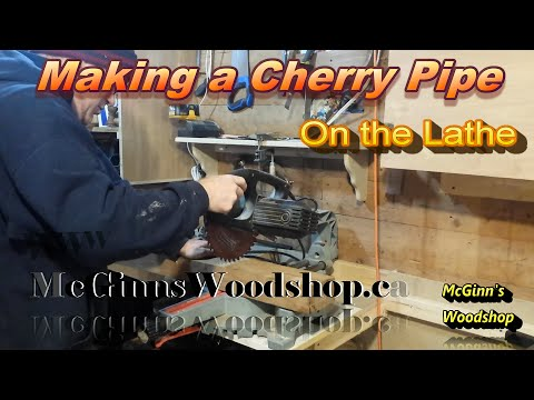 Making A Cherry Pipe On The Lathe