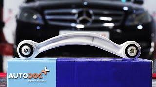 Kuinka vaihtaa ylempi tukivarsi taakse MERCEDES-BENZ C W204 -merkkiseen autoon OHJEVIDEO | AUTODOC