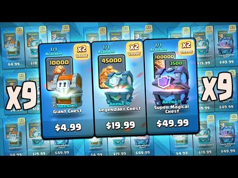 OPENING NEW $50 CHEST OFFERS! x9 KINGS CUP CHEST OPENING! Clash Royale | x3 50$ CHESTS!