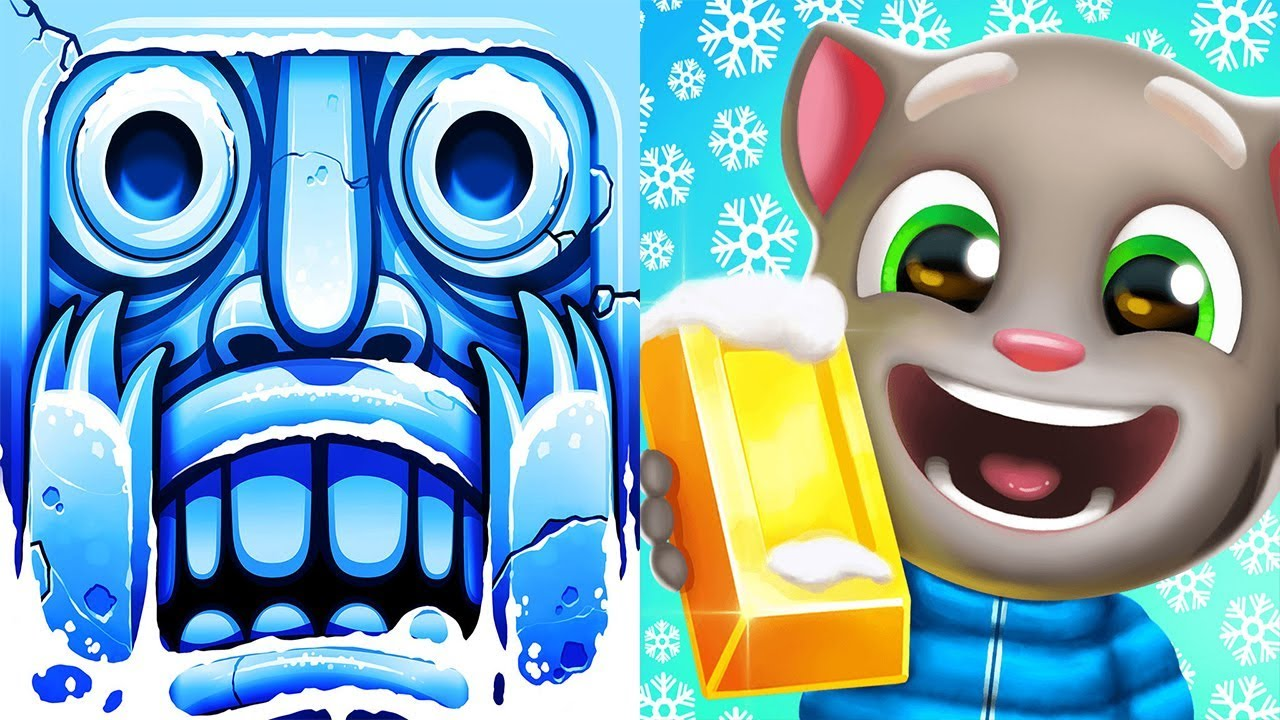 Temple Run 2 VS Talking Tom Gold Run Epic Snow Run