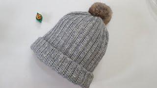 코바늘 모자뜨기/초보용 비니모자/겨울모자 Crochet…