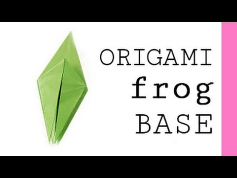 origami frog base youtube