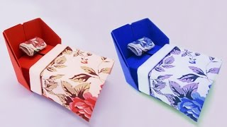 Simple Origami Bed How To Make Origami Bed For Doll Easy