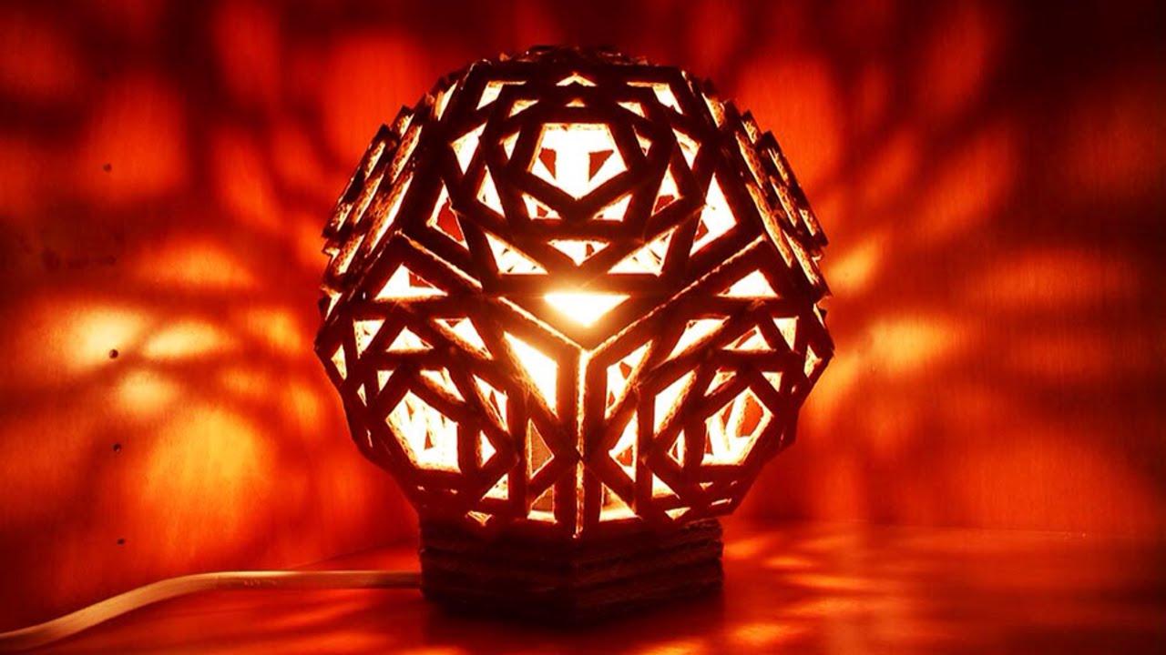Crea Una Bellissima Lampada Di Cartone Geometrica Fai Da