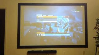 """BF3 PC Gameplay on a Acer H5360 3D Projector and 110"""" screen"""