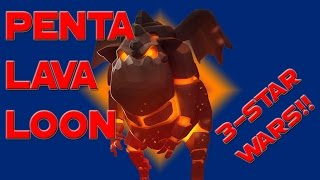 Clash of Clans - 3-Star WAR Strategy PENTALAVALOON + Dragons WAR RECAP
