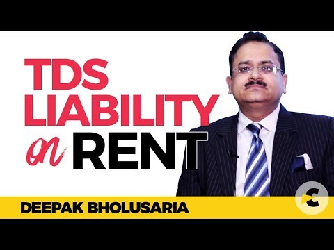 TDS liability on rent in Hindi By Deepak Bholusaria