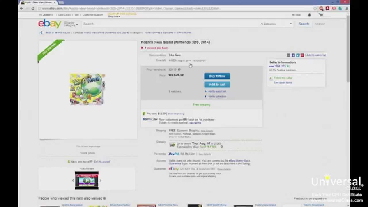 Accepting And Sending Payments On Ebay How To Ebay Universal Class Youtube