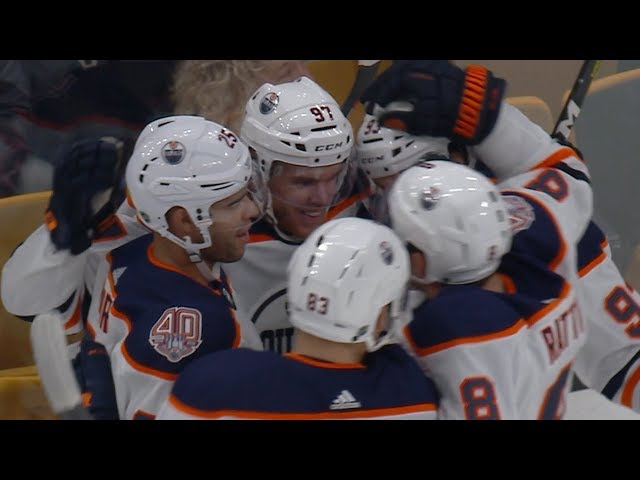 Connor McDavid shows off speed on first of the season