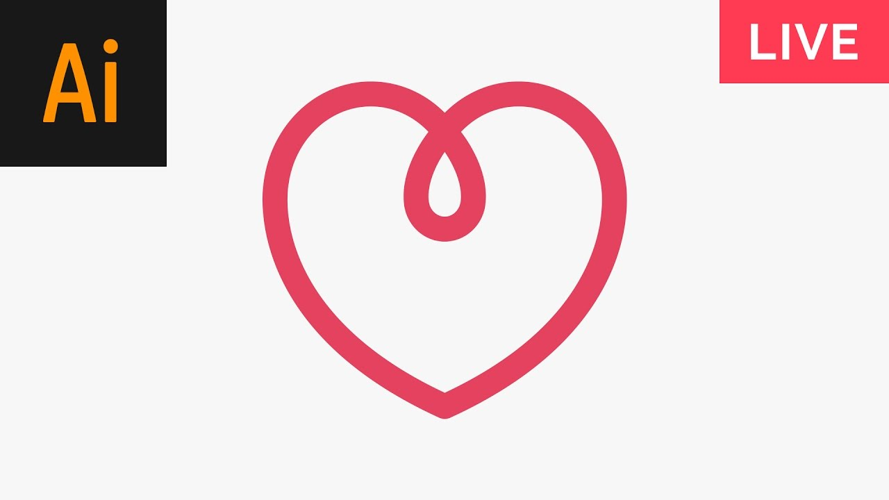 design a heart logo illustrator tutorial youtube