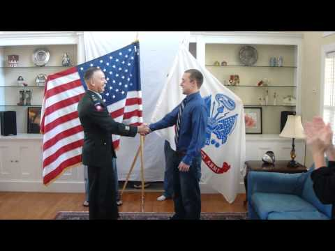 Joe's enlistment ceremony swearing in Nov 2010 Che...