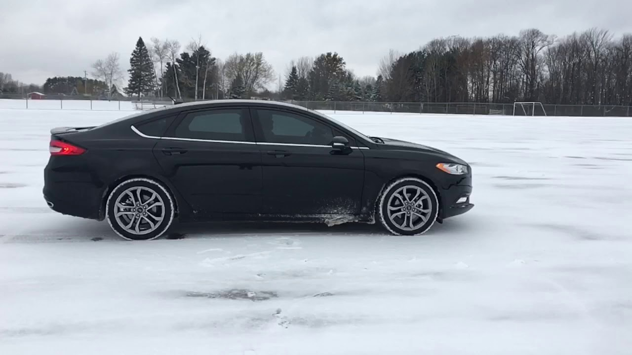 2017 Ford Fusion Awd Ecoboost Launch In Snow With Winter Tires