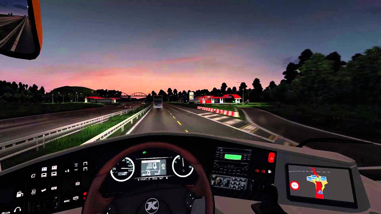 Euro Truck Simulator 2 Bus Trip To Calais With Setra