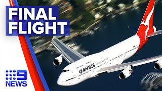 Iconic Qantas Boeing 747 retires after years of service | 9 News Australia