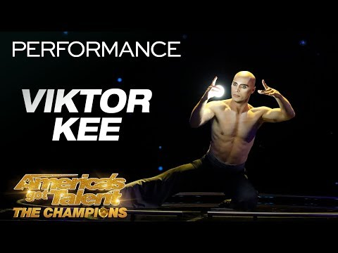Viktor Kee: Juggler Stuns Crowd With Projection Performance - America's Got Talent: The Champions