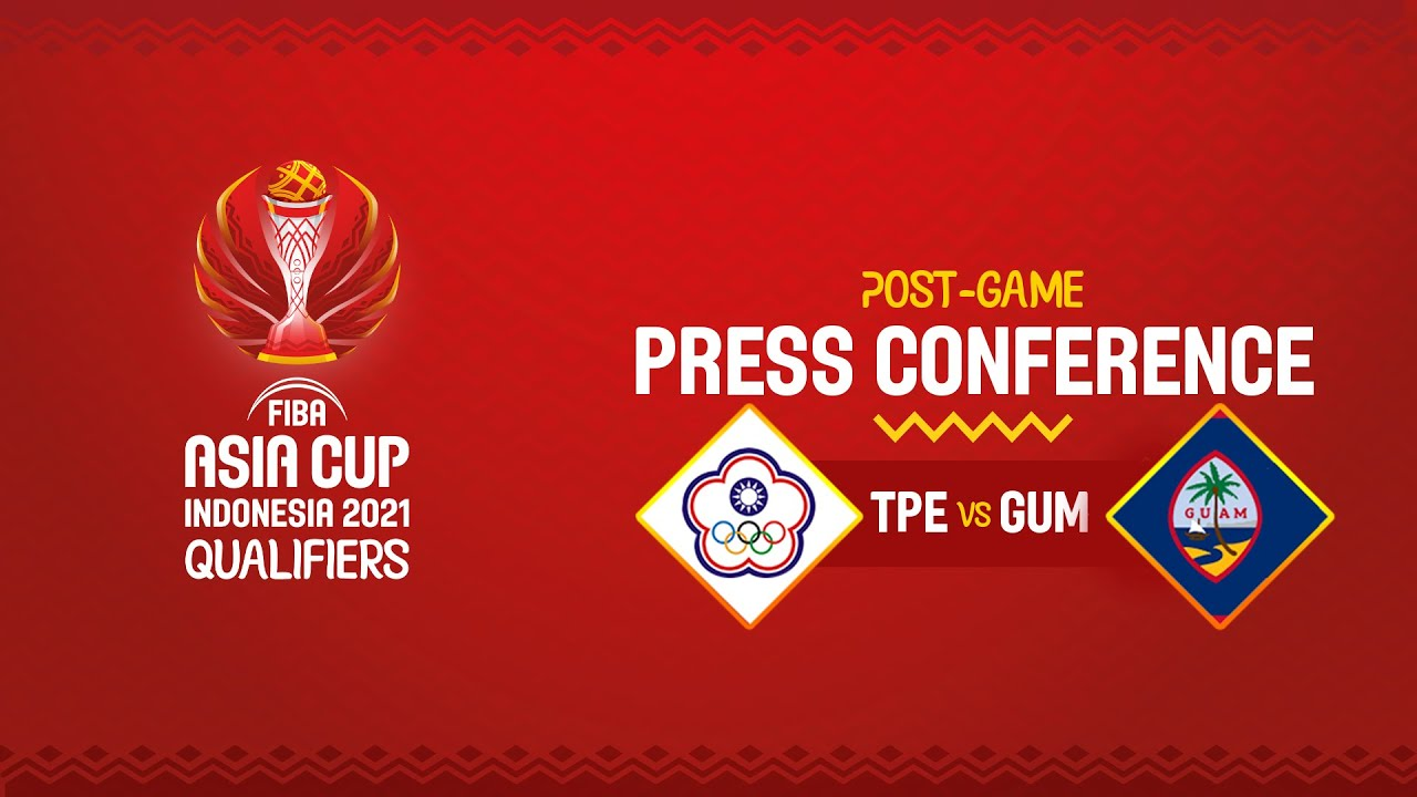 Chinese Taipei v Guam - Press Conference | FIBA Asia Cup 2021 Qualifiers