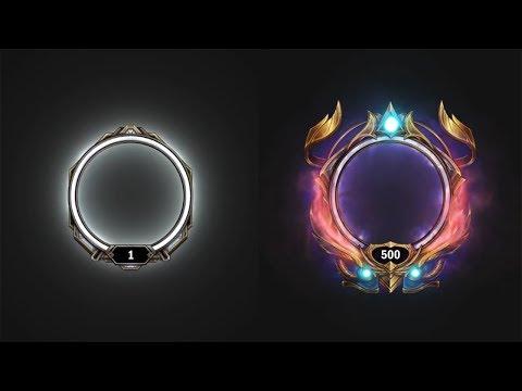 Рамка профиля с 1 по 500 уровень League Of Legends анимация