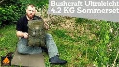 4,2 KG leichtes Bushcraft Sommerset (für 2+ Nächte)   Bushcraft Ultraleicht #2