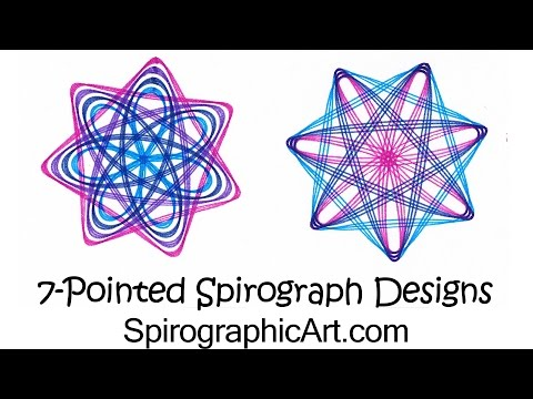 How-To Spirograph: 7-Pointed Designs