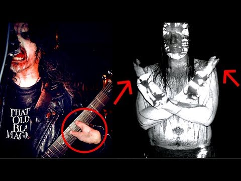 Black Metal Vocalists sewing Pigs Feet on their Hands?