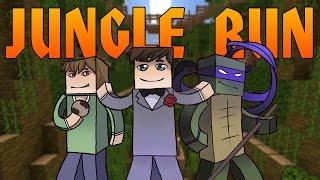 Прохождение карт Minecraft: Jungle Run