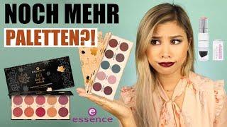 NOCH MEHR ESSENCE PALETTEN?! Drogerie Neuheiten Live Test! l Kisus Beauty News