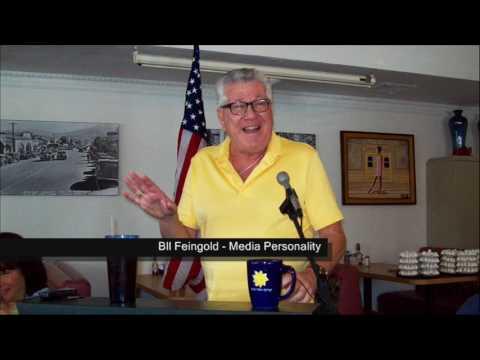 "KIWANIS PALM SPRINGS SPEAKER -- ""Bulldog"" Bill Feingold, Media Personality"