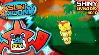 first sun and moon shiny pokemon shiny caterpie quest for shiny living dex 010   pokemon sun moon