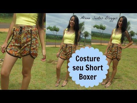 Costurando  Short Boxer Alana Santos Blogger
