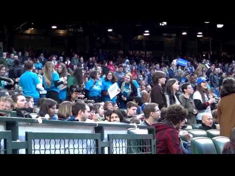 The Clearwater School at the Bernie Sanders rally at SAFECO Field
