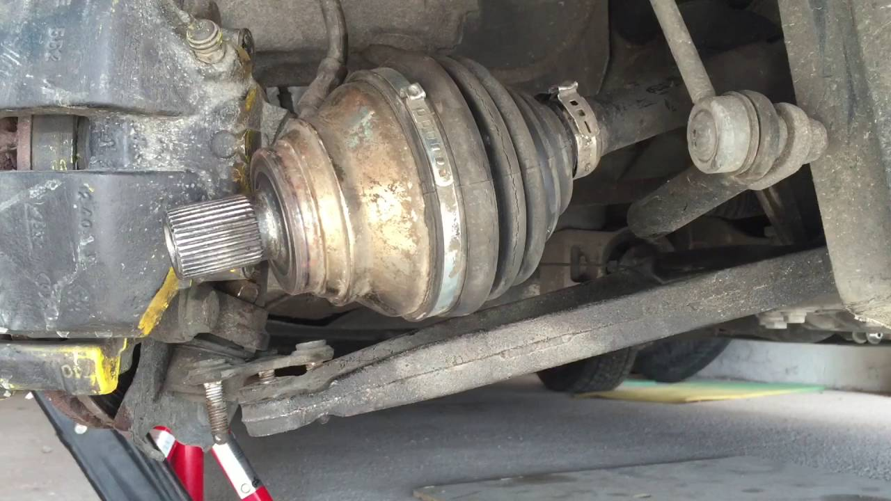 vw touran   octavia ii removal axle shaft and cv boot