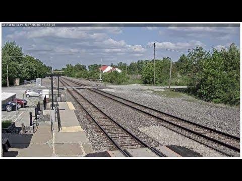 La Plata, MO - Virtual Railfan LIVE