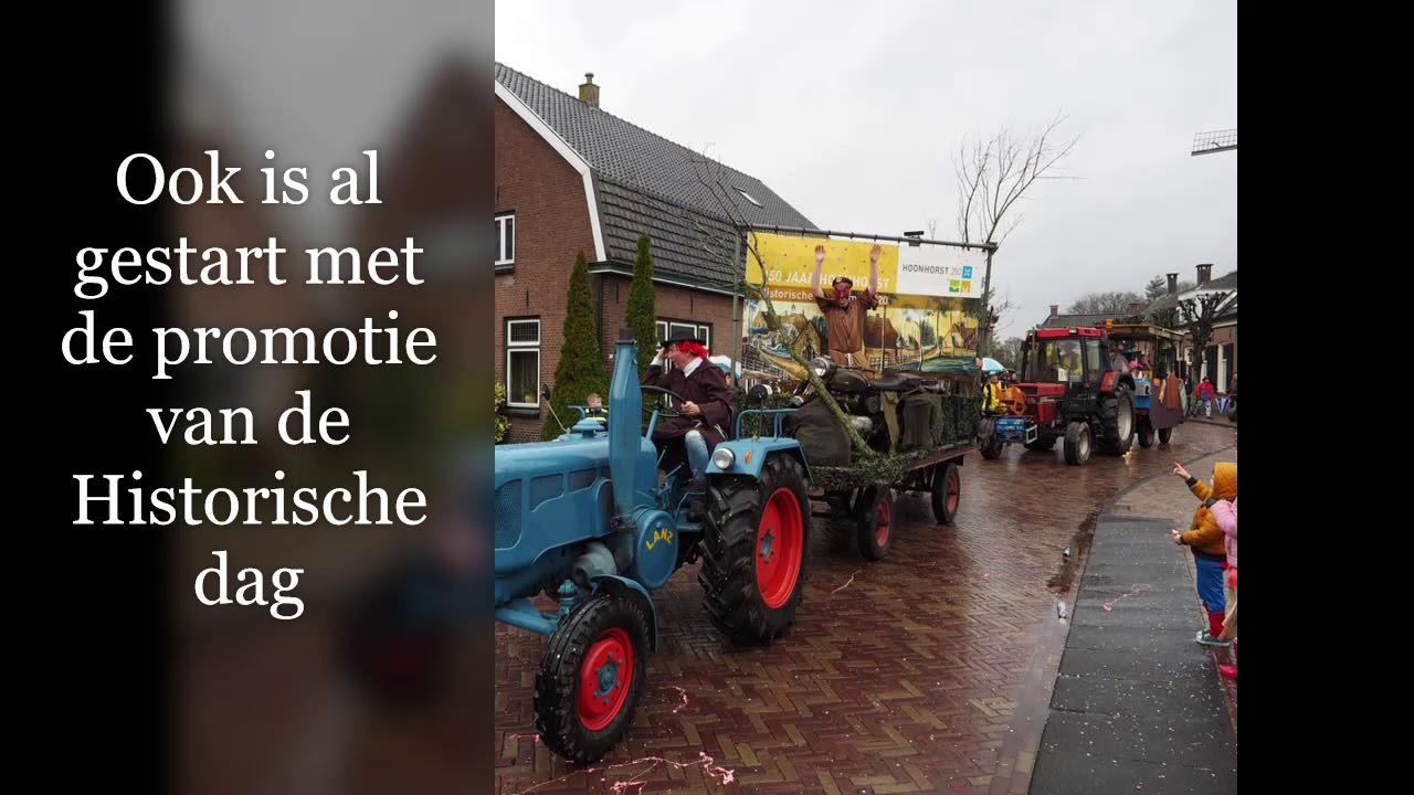 Voorbereidingen jubileumjaar Hoonhorst