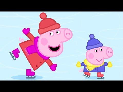 Peppa Pig Español Capitulos Completos - Vamos a patinar -  Episodios de Navidad 🎄- Dibujos Animados