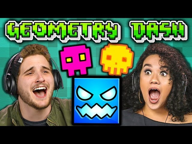 THIS IS IMPOSSIBLE!   GEOMETRY DASH (Adults React: Gaming)