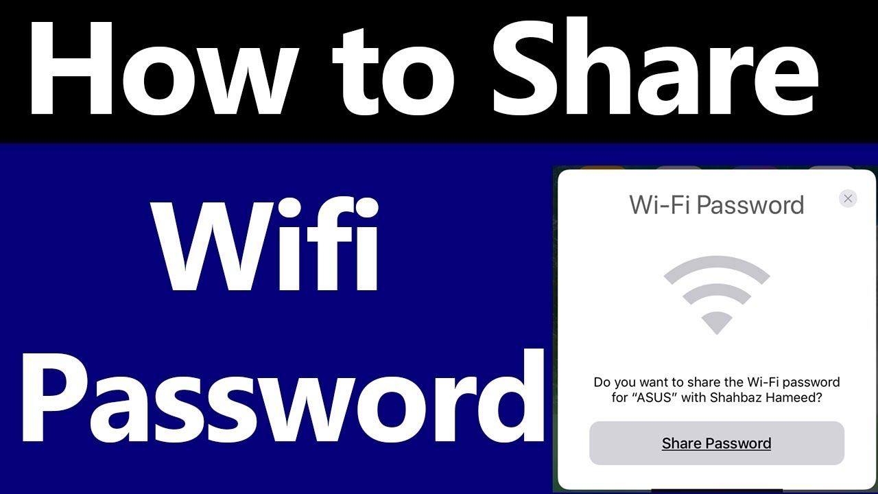 How to Share Wifi Password on iPhone and iPad in iOS 11 - Urdu | Hindi -  Kuch Na Kuch
