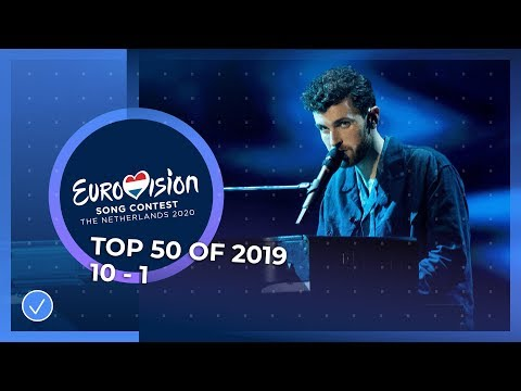 TOP 50: Most watched in 2019: 10 TO 1 - Eurovision Song Contest