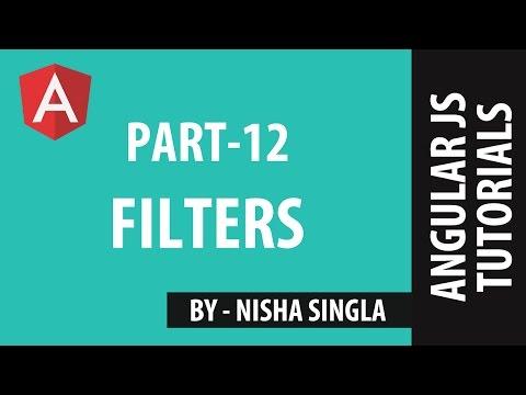 AngularJS Tutorial 12 - FILTERS