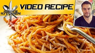 SPAGHETTI SAUCE - VIDEO RECIPE