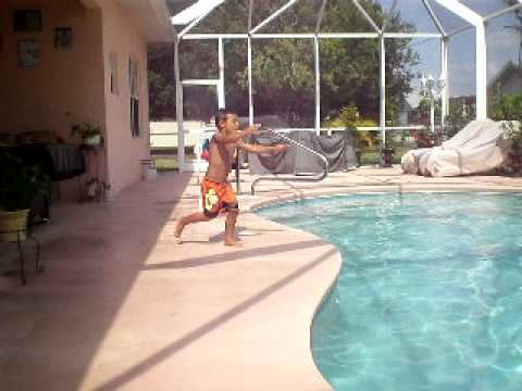 kevin castellanos diving,5 years old