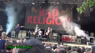 BAD RELIGION playing the 5 first songs - Live @ Gröna Lund , Stockholm (Sweden) , July 25th 2013.