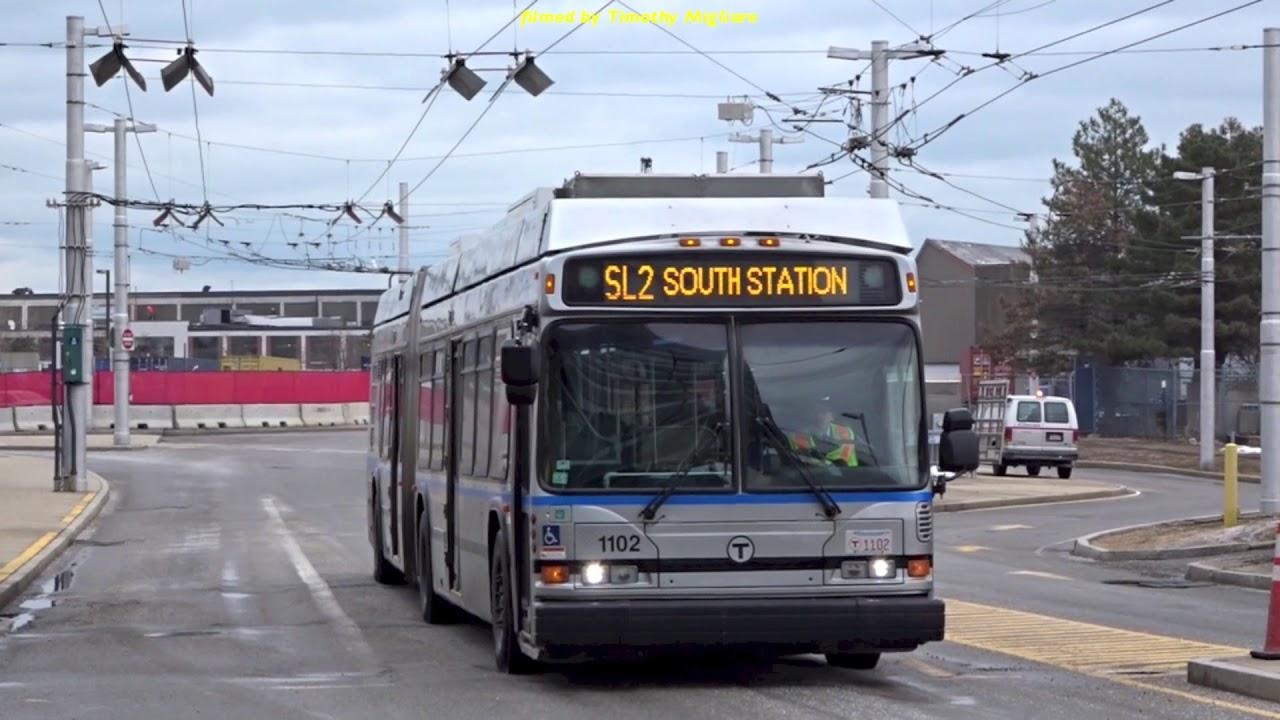 silverline trolleybus or bus in boston usa 2018 youtube