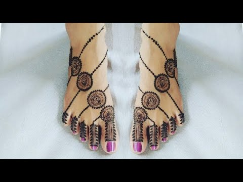 Stylish Leg Mehndi Design ! Easy Leg mehndi Designs ! Feet Mehendi Design Simple. thumbnail