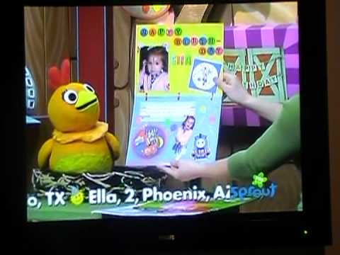 RJ's 3rd Birthday Card Being Aired On Sprouts Sunny Side