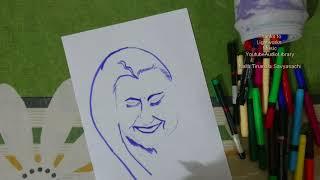 How To Draw Indira Gandhi