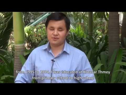 ICEVI The Nippon Foundation Higher Education Employment Video   Cambodia   Sokun Prum Vireak