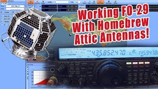 Working the Amateur Radio Satellite FO-29 with homebrew antennas