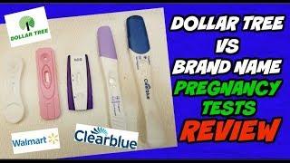 Dollar Tree VS Brand Name Pregnancy Tests Review