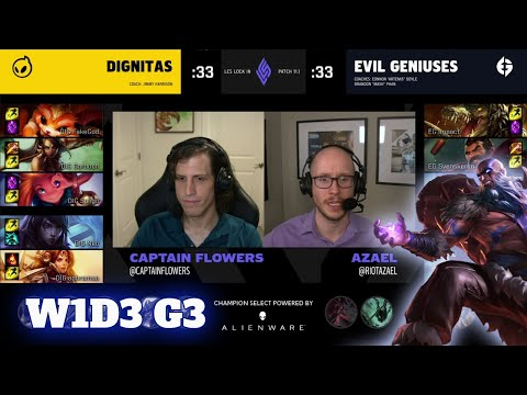 Dignitas vs Evil Geniuses | Day 3 LCS Lock In 2021 Groups | DIG vs EG